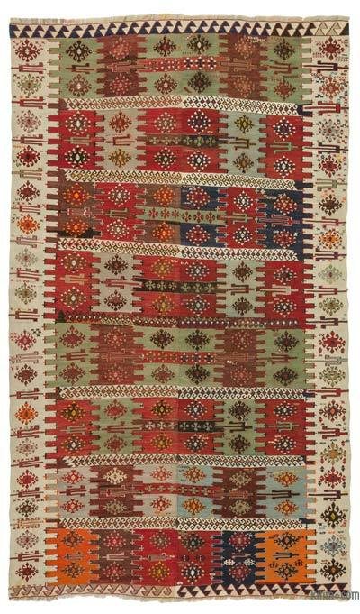 "Antique Malatya Kilim Rug - 5' x 8'9"" (60 in. x 105 in.)"