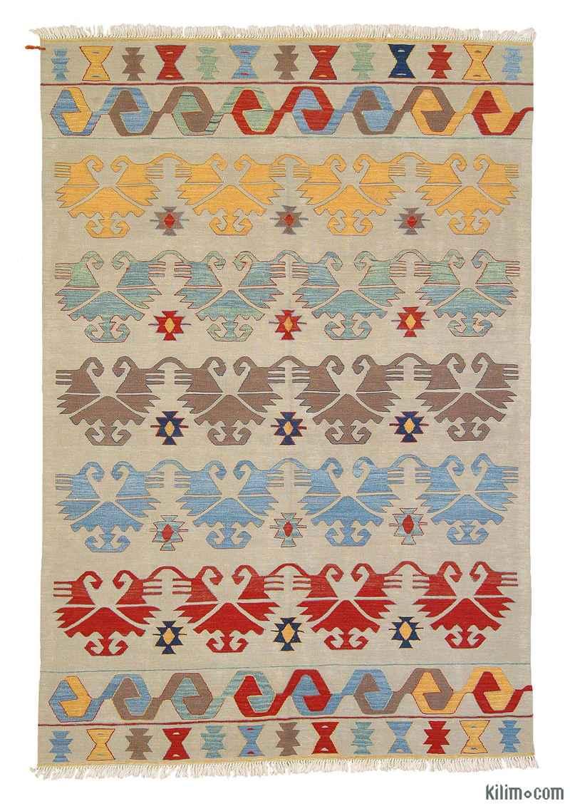 Multicolor New Turkish Kilim Area Rug - K0003882