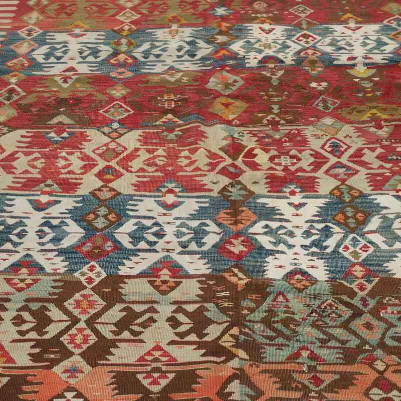 Çok Renkli Antika Malatya Kilimi - 172 cm x 325 cm - K0004150