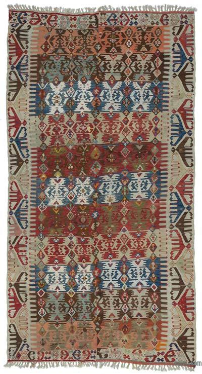 "Antique Malatya Kilim Rug - 5' 8"" x 10' 8"" (68 in. x 128 in.)"