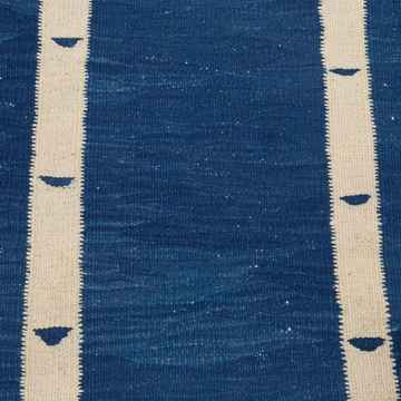 Blue New Turkish Kilim Rug - K0004612