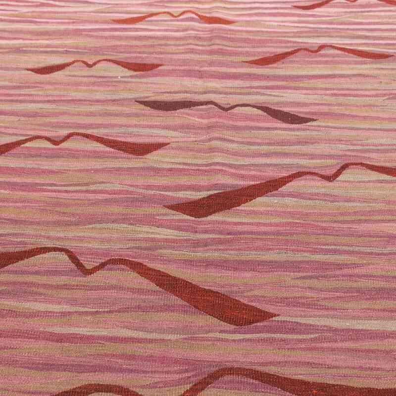 Mor Yeni Kök Boya El Dokuma Kilim - 183 cm x 245 cm - K0004615