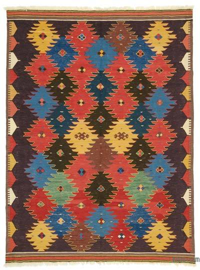 "New Turkish Kilim Rug - 6' 9"" x 8' 11"" (81 in. x 107 in.)"