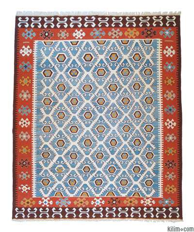New Turkish Kilim Area Rug - IONIA