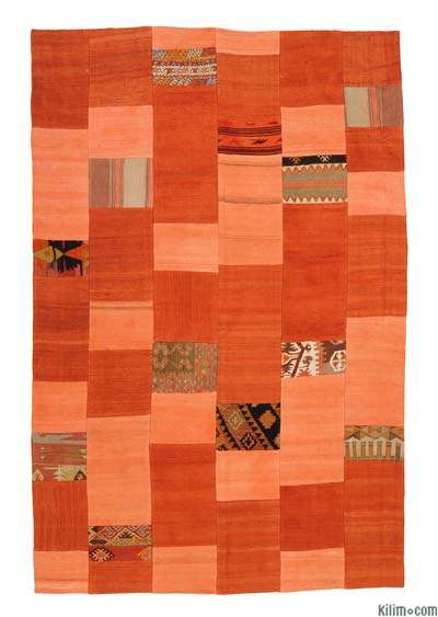 "Turkish Patchwork Kilim Rug - 5'1"" x 7'7"" (61 in. x 91 in.)"