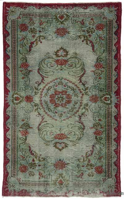 "Turkish Vintage Area Rug - 5' 9"" x 9' 3"" (69 in. x 111 in.)"