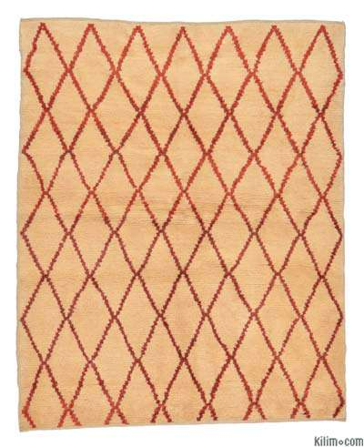 "New Turkish Tulu Rug - 4'8"" x 5'9"" (56 in. x 69 in.)"
