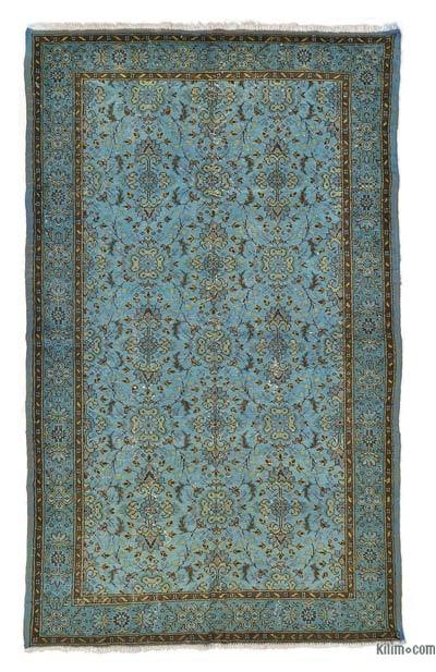 "Overdyed Turkish Vintage Rug - 5' 4"" x 8' 8"" (64 in. x 104 in.)"