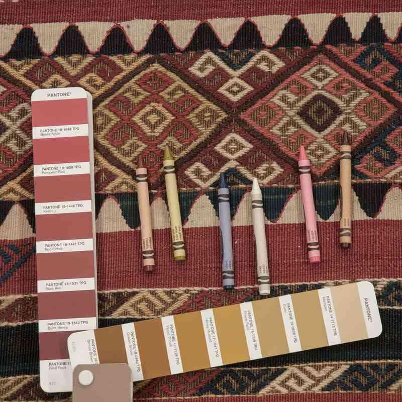 "Antique Malatya Kilim Rug - 6' 7"" x 12' 2"" (79 in. x 146 in.) - K0005654"