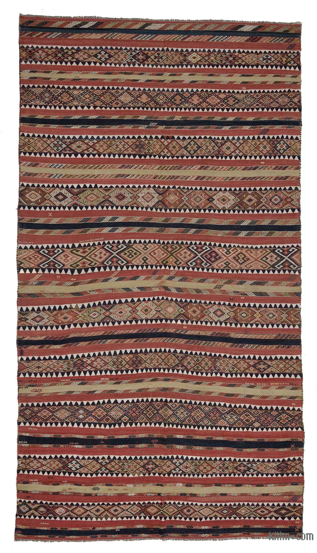 3.1x5.6 ft Handmade Kilim Antique Kilim,Organic Kilim Vintage Kilim,Oriental Kilim Striped Kilim 1650 Turkish Kilim Decorative Kilim