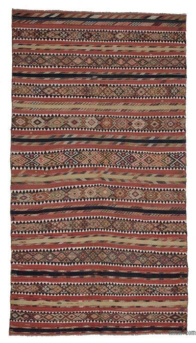 "Antique Malatya Kilim Rug - 6' 7"" x 12' 2"" (79 in. x 146 in.)"