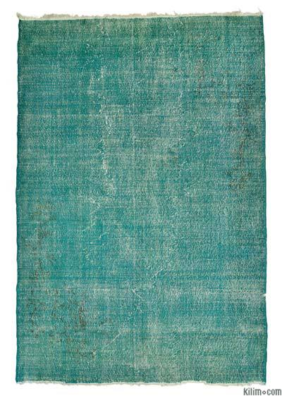 "Overdyed Turkish Vintage Rug - 7'3"" x 10'7"" (87 in. x 127 in.)"