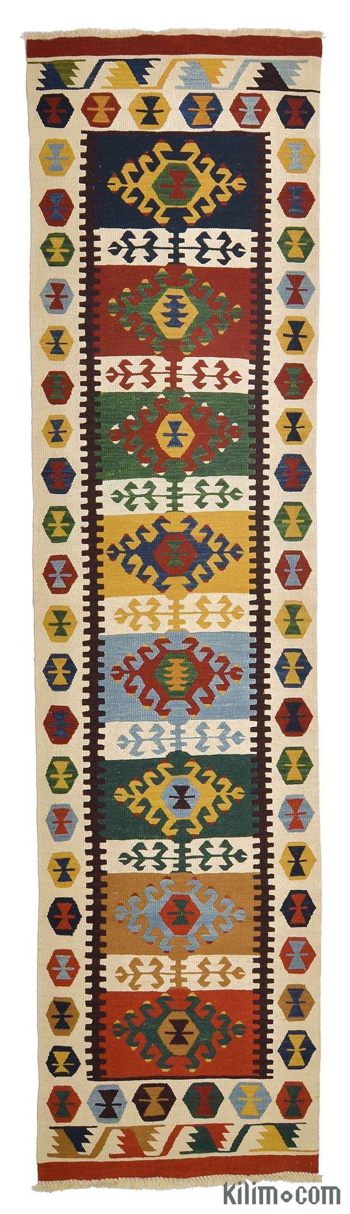 Multicolor New Turkish Kilim Runner - K0005706
