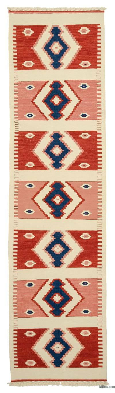 "New Turkish Kilim Runner - 2' 9"" x 10' 4"" (33 in. x 124 in.)"