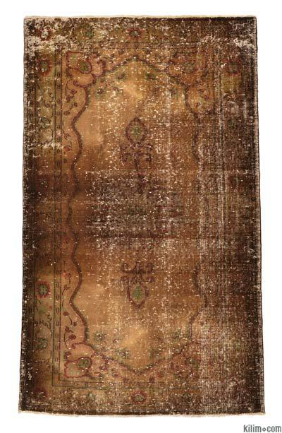 """Over-dyed Turkish Vintage Rug - 3' 11"""" x 7' 10"""" (47 in. x 94 in.)"""