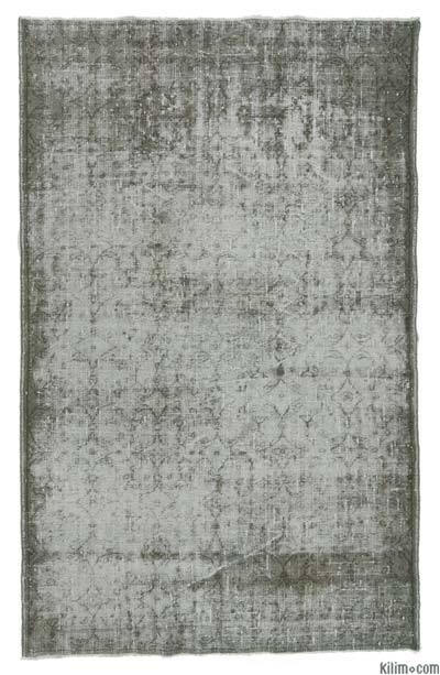 Alfombra Turca Vintage Sobre-teñida - 173 cm x 272 cm