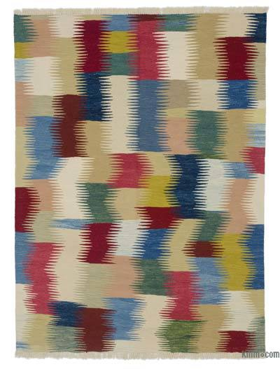"New Handwoven Turkish Kilim Rug - 5' 1"" x 6' 9"" (61 in. x 81 in.)"