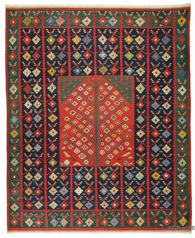 "New Handwoven Turkish Kilim Rug - 10' 4"" x 12' 7"" (124 in. x 151 in.)"