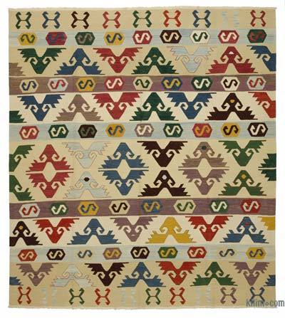 "New Handwoven Turkish Kilim Rug - 8' 4"" x 9' 1"" (100 in. x 109 in.)"