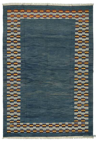 Blue New Handwoven Turkish Kilim Rug