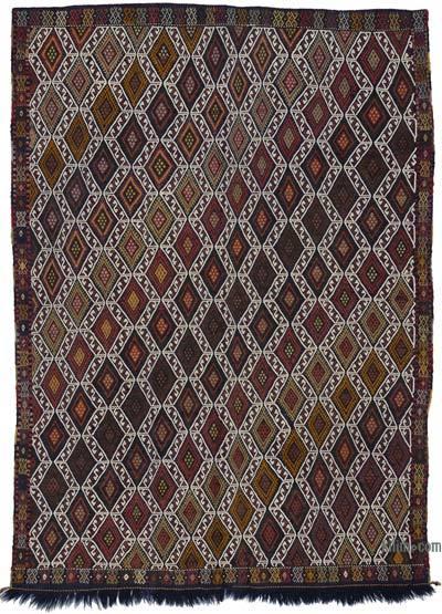 """Vintage Konya Jijim - 5' 3"""" x 7' 5"""" (63 in. x 89 in.)"""