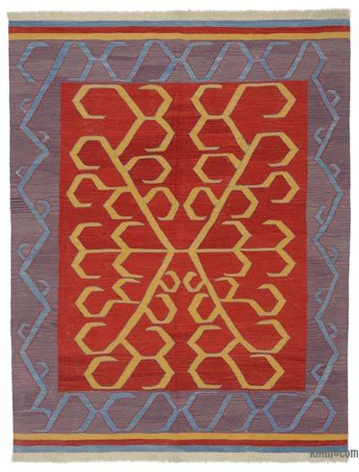"New Turkish Kilim - 5'1"" x 6'6"" (61 in. x 78 in.)"