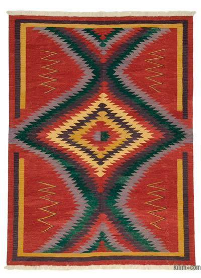 "New Handwoven Turkish Kilim Rug - 6'  x 8' 1"" (72 in. x 97 in.)"