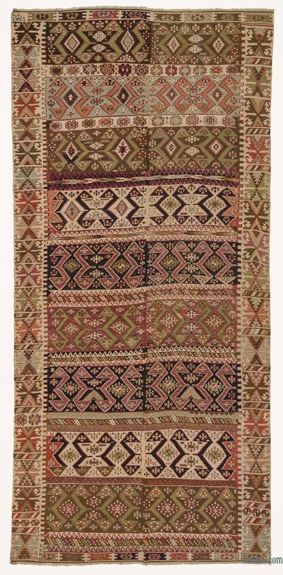 "Antique Malatya Kilim Rug - 5' 11"" x 12' 6"" (71 in. x 150 in.)"