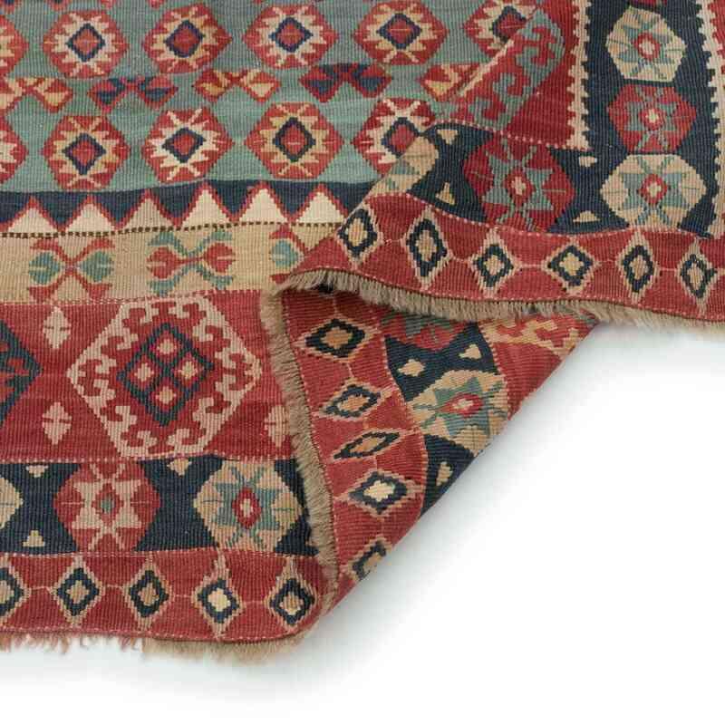 Çok Renkli Antika Erzurum Kilimi - 130 cm x 150 cm - K0005980