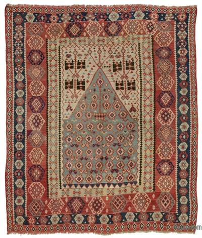 "Antique Erzurum Kilim Rug - 4' 3"" x 4' 11"" (51 in. x 59 in.)"