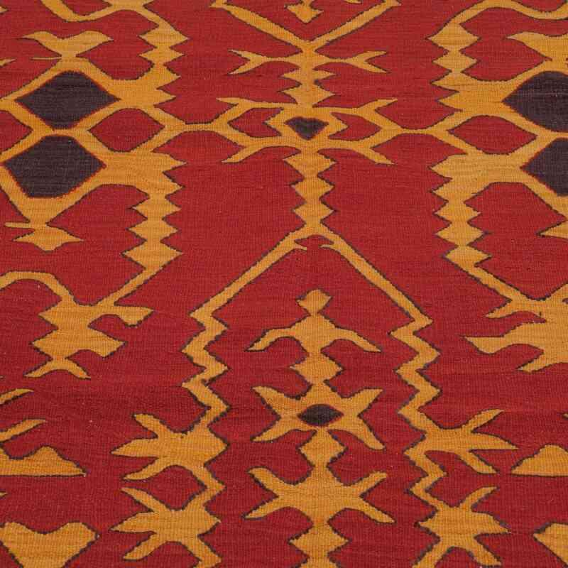 Red, Yellow New Turkish Kilim - K0006055