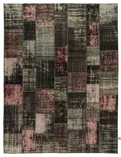 "Over-dyed Turkish Patchwork Rug - 10' x 13'2"" (120 in. x 158 in.)"