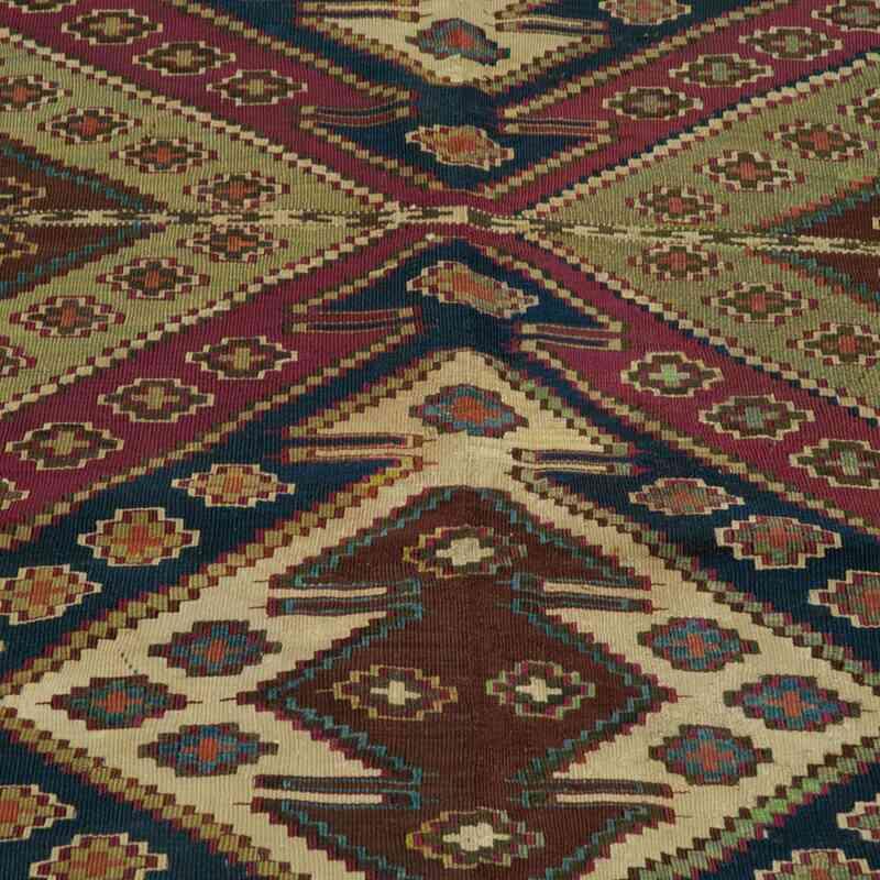 Kırmızı, Çok Renkli Antika Malatya Kilimi - 180 cm x 275 cm - K0006224