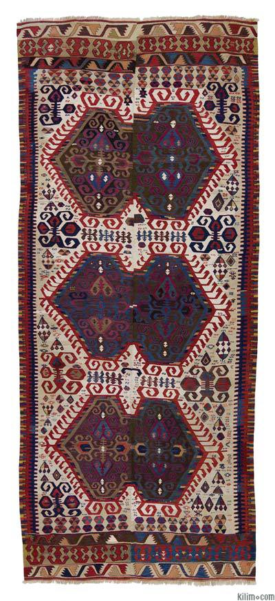 "Antique Malatya Kilim - 4' 9"" x 10' 10"" (57 in. x 130 in.)"
