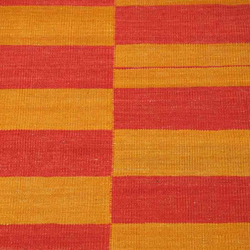 Red, Yellow New Turkish Kilim Runner - K0006422