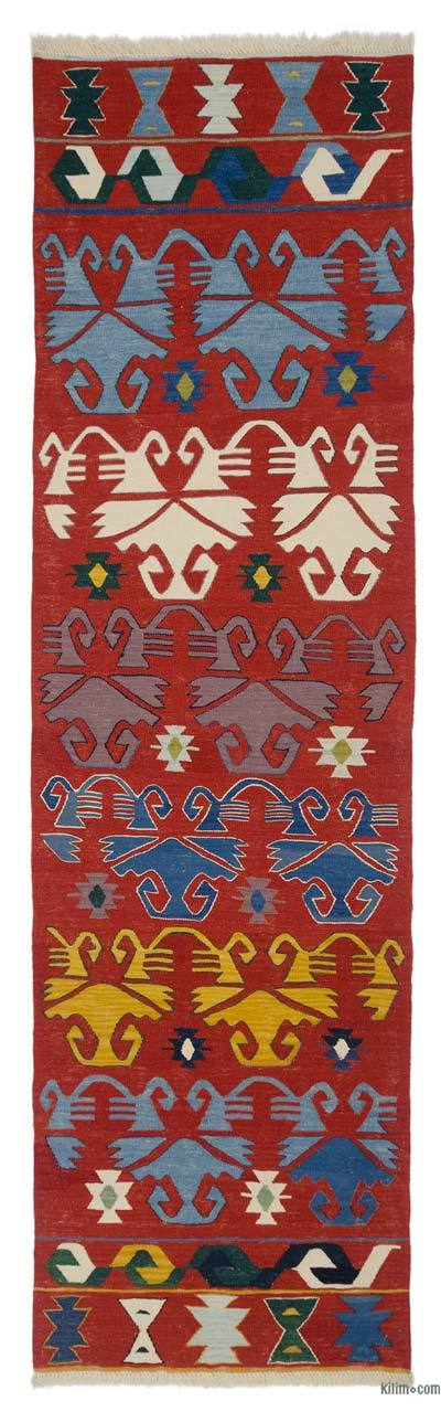 "New Turkish Kilim Runner - 3'  x 10' 3"" (36 in. x 123 in.)"
