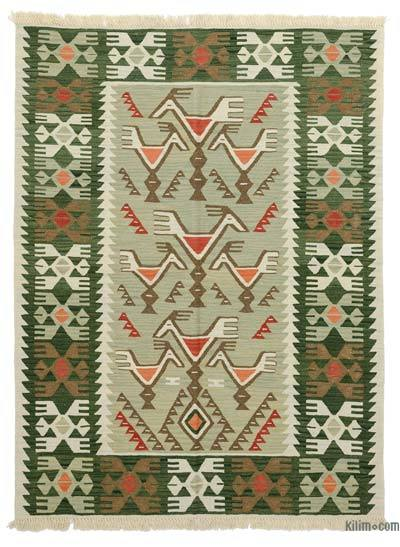 "New Turkish Kilim Rug - 4'6"" x 6' (54 in. x 72 in.)"