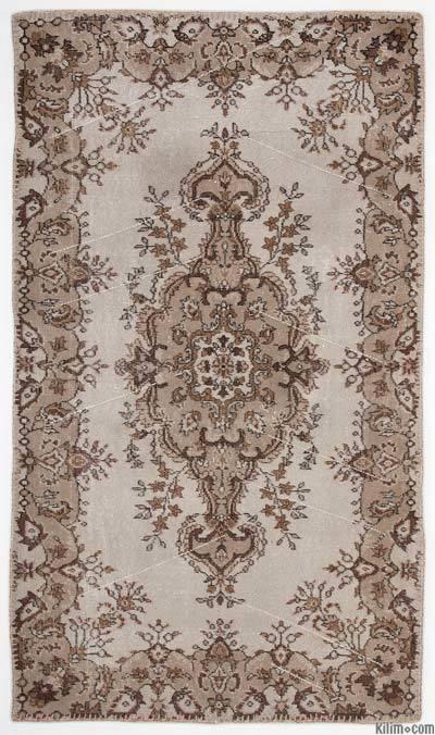 El Dokuma Vintage Halı - 118 cm x 205 cm