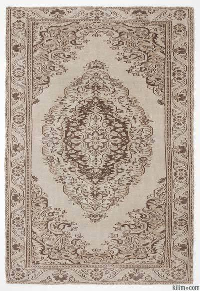 """Over-dyed Turkish Vintage Rug - 5'11"""" x 8'9"""" (71 in. x 105 in.)"""
