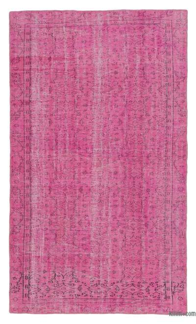 Alfombra Turca Vintage Sobre-teñida - 159 cm x 269 cm