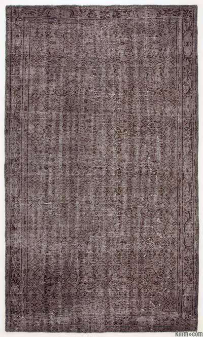 Boyalı El Dokuma Vintage Halı - 167 cm x 288 cm