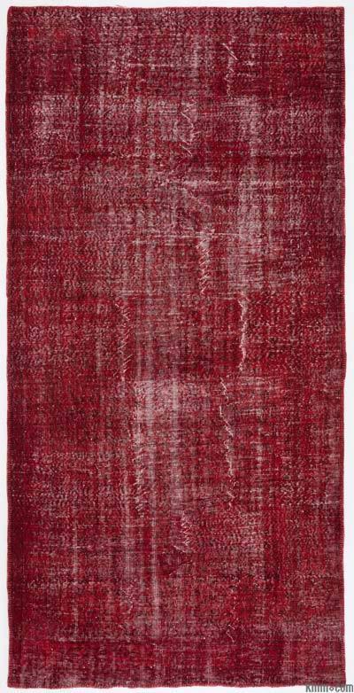 Boyalı El Dokuma Vintage Halı - 162 cm x 327 cm