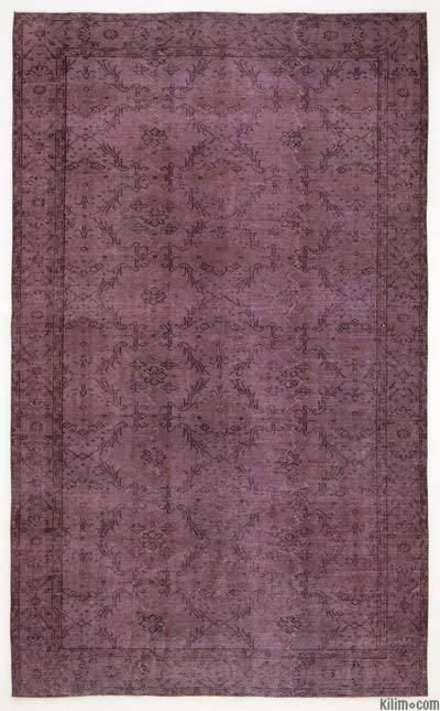 Alfombra Turca Vintage Sobre-teñida - 170 cm x 283 cm
