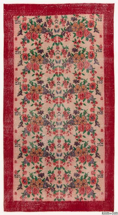 "Turkish Vintage Area Rug - 3'9"" x 7'1"" (45 in. x 85 in.)"