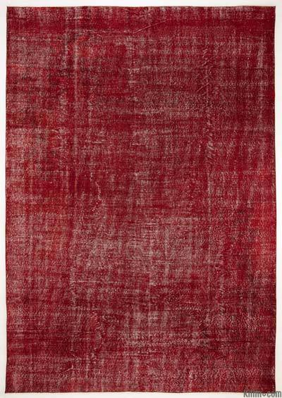 """Over-dyed Turkish Vintage Rug - 7'1"""" x 10'3"""" (85 in. x 123 in.)"""