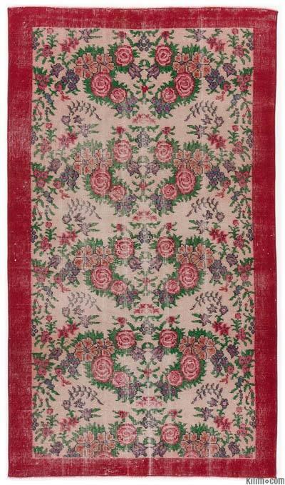 El Dokuma Vintage Halı - 113 cm x 198 cm