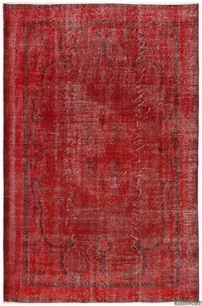 Alfombra Turca Vintage Sobre-teñida - 188 cm x 288 cm