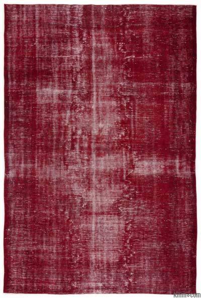 Boyalı El Dokuma Vintage Halı - 207 cm x 300 cm