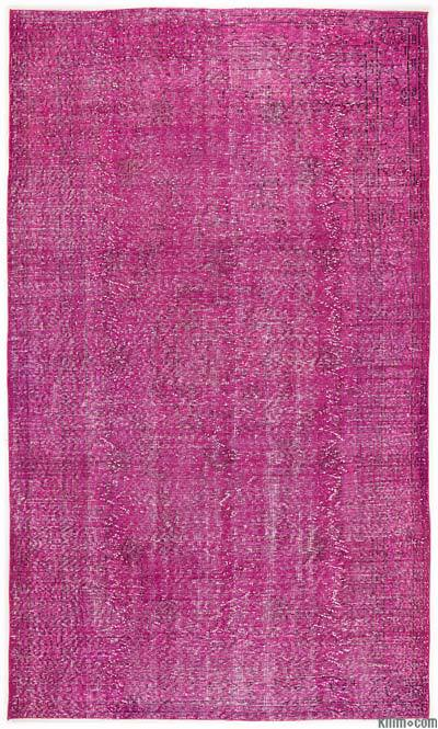 """Over-dyed Turkish Vintage Rug - 6'4"""" x 10'9"""" (76 in. x 129 in.)"""