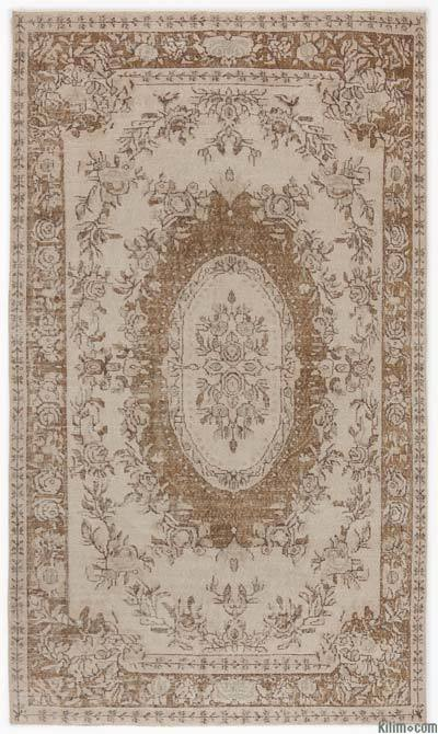 """Over-dyed Turkish Vintage Rug - 6'1"""" x 9'3"""" (73 in. x 111 in.)"""